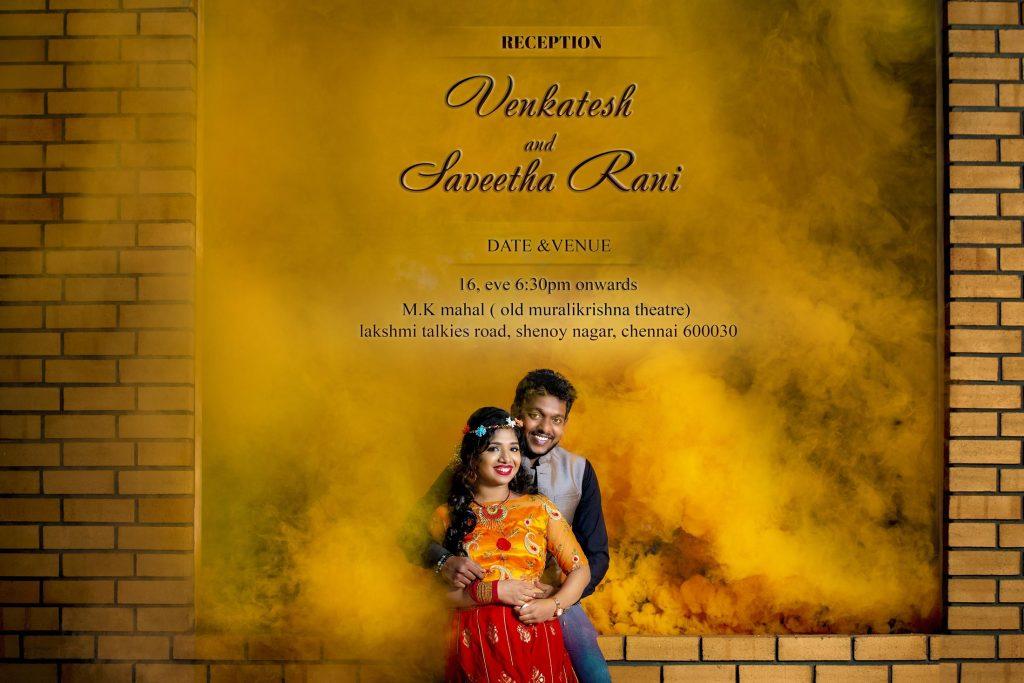 digital invitation in cinematic style